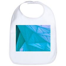 silk turquoise Bib