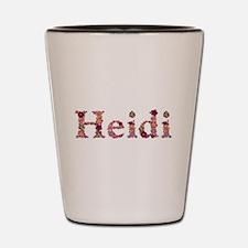 Heidi Pink Flowers Shot Glass