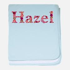 Hazel Pink Flowers baby blanket