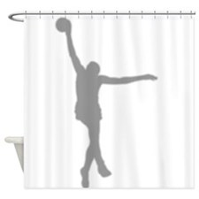 Basketball Silhouette Shower Curtain