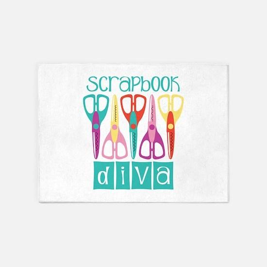 Scrapbook Diva 5'x7'Area Rug