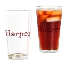 Harper Pink Flowers Drinking Glass