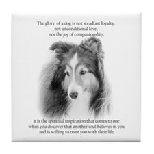 Sheltie Glory Tile Coaster