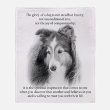 Sheltie Glory Throw Blanket