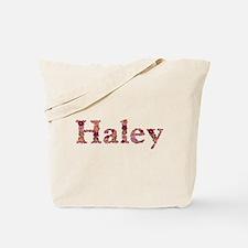 Haley Pink Flowers Tote Bag