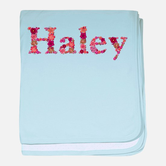 Haley Pink Flowers baby blanket