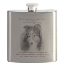 Sheltie Glory Flask