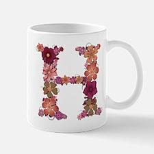 H Pink Flowers Mugs