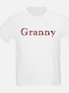 Granny Pink Flowers T-Shirt