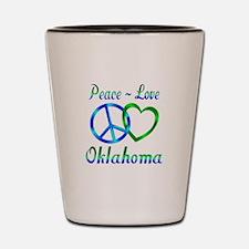 Peace Love Oklahoma Shot Glass