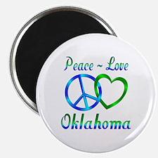 "Peace Love Oklahoma 2.25"" Magnet (100 pack)"