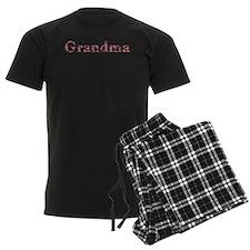 Grandma Pink Flowers Pajamas
