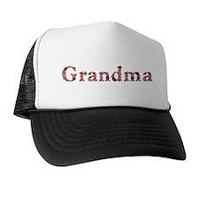 Grandma Pink Flowers Trucker Hat