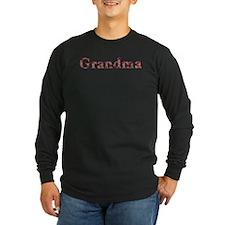 Grandma Pink Flowers Long Sleeve T-Shirt