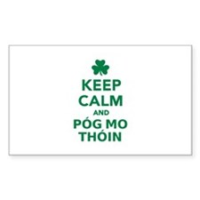 Keep calm and póg mo thóin Decal