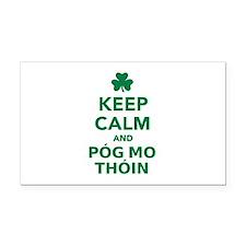 Keep calm and póg mo thóin Rectangle Car Magnet