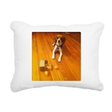 Beagle: Nose with a dog attached Rectangular Canva