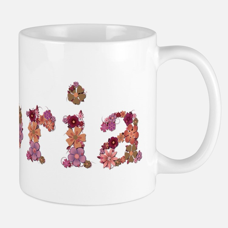 Gloria Pink Flowers Mugs
