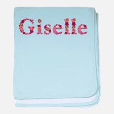 Giselle Pink Flowers baby blanket