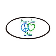 Peace Love Ohio Patches