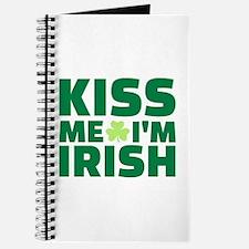 Kiss me I'm Irish shamrock Journal