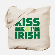 Kiss me I'm Irish shamrock Tote Bag