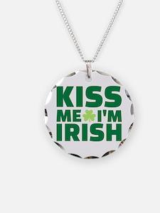 Kiss me I'm Irish shamrock Necklace