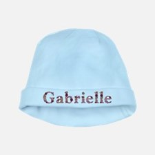 Gabrielle Pink Flowers baby hat