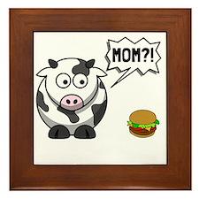 Cow Mom Framed Tile