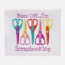 Buzz Off... Im Scrapbooking Throw Blanket