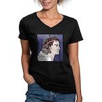 Cuchulain Women's V-Neck T - Blk/Gry