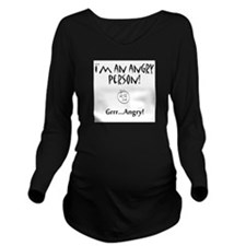 Angry.GIF Long Sleeve Maternity T-Shirt