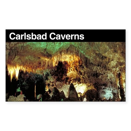 Carlsbad Caverns National Par Sticker (Rectangular