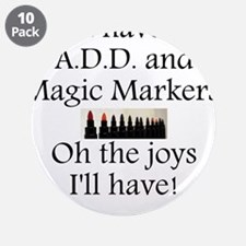 """Magic Marker Front.GIF 3.5"""" Button (10 pack)"""