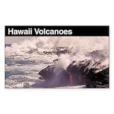 Hawaii Volcanoes National Par Sticker (Rectangular