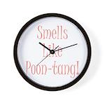poontang.gif Wall Clock