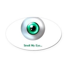 Eye.gif Oval Car Magnet