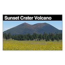 Sunset Crater Volcano Nationa Sticker (Rectangular