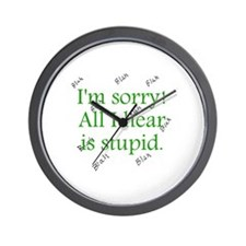 Stupid.gif Wall Clock