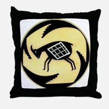 MIMBRES BUTTING GOAT BOWL DESIGN Throw Pillow