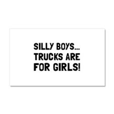 Girls Trucks Car Magnet 20 x 12