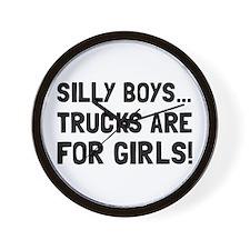 Girls Trucks Wall Clock