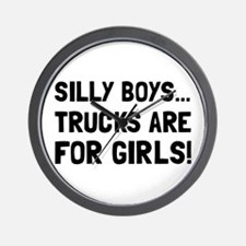Girls Trucks Wall Clock