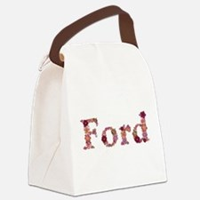 Ford Pink Flowers Canvas Lunch Bag