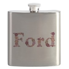 Ford Pink Flowers Flask