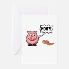 Pig Mom Greeting Cards