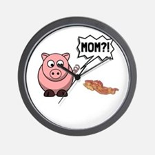 Pig Mom Wall Clock
