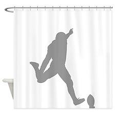 Football Kicker Silhouette Shower Curtain
