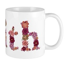 Faith Pink Flowers Mugs