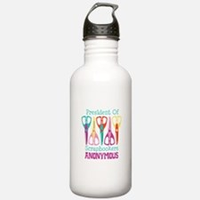 President of Scrapbookers Anonymous Water Bottle